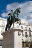 Estatua de Charles III fotografía de archivo
