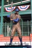 Estatua de Chicago Cub Ernie Banks imagen de archivo