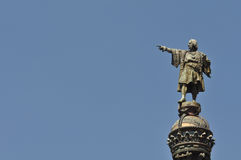 Estatua de Christopher Columbus imágenes de archivo libres de regalías