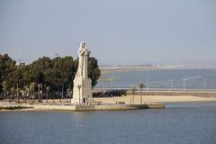 Estatua de Christopher Columbus fotografía de archivo