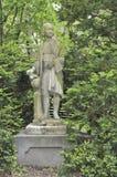 Estatua de Christopher Columbus en el cuadrado de Louisberg, el faro H Imagen de archivo libre de regalías