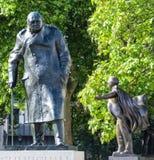 Estatua de Churchill Imagenes de archivo