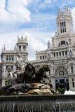Estatua de Cibeles en Madrid Imagen de archivo libre de regalías