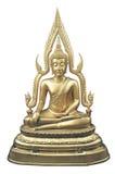 Estatua de cobre amarillo de Buda Fotos de archivo