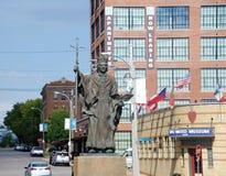 Estatua de cobre y de bronce, St. Louis, Missouri fotografía de archivo libre de regalías