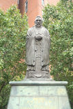 Estatua de Confucio Fotos de archivo