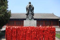 Estatua de Confucio y del templo, Pekín Fotos de archivo libres de regalías