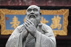 Estatua de Confucius en el templo fotos de archivo libres de regalías