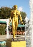 Estatua de Cory Everson Imagenes de archivo