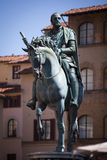 Estatua de Cosimo I de Medici, Florencia Fotos de archivo libres de regalías