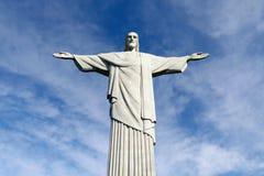 Estatua de Cristo el redentor en la montaña de Corcovado Fotos de archivo