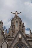 Estatua de Cristo en el soporte Tibidabo, Barcelona Fotos de archivo