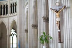 Estatua de Cristo en la iglesia Fotos de archivo libres de regalías