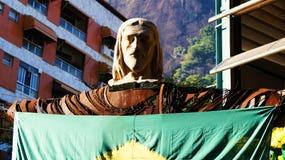 Estatua de Cristo la figura cabeza del redentor Imágenes de archivo libres de regalías