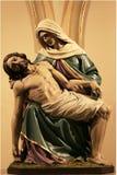 Estatua de Cristo y de Maria Fotografía de archivo