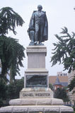 Estatua de Daniel Webster fotos de archivo