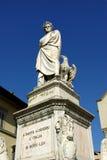 Estatua de Dante en Florencia Imágenes de archivo libres de regalías