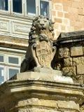 Estatua de De Vilhena Lion en la calle del este, Valletta Imagen de archivo libre de regalías