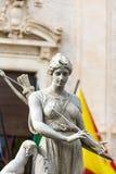 Estatua de Diana, Siracusa, Sicilia, Italia Fotos de archivo