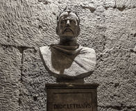 Estatua de Diocletian en el palacio de la ciudad de la fractura Fotografía de archivo