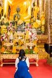 Estatua de dios budista, Louangphabang, Laos Primer vertical Fotos de archivo