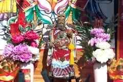 Estatua de dios chino Guan Yu Foto de archivo