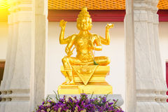 Estatua de dios hindú Brahma en Tailandia Fotos de archivo