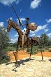 Estatua de Don Quijote, la Mancha en España imágenes de archivo libres de regalías