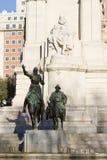 Estatua de Don Quixote y de Sancho Panza Foto de archivo libre de regalías