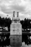 Estatua de dos caballos en Lisboa foto de archivo