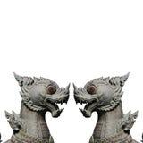 Estatua de dos leones imágenes de archivo libres de regalías