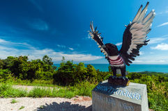 Estatua de Eagle, chumphon, Tailandia Imagen de archivo libre de regalías
