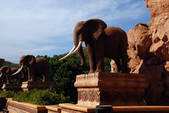 Estatua de elefantes Imagen de archivo