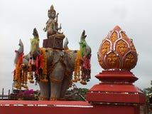 Estatua de elefantes en el triángulo del oro de Tailandia Fotografía de archivo libre de regalías