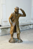 Estatua de Emilio Salgari en Verona, Italia Foto de archivo