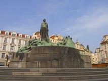 Estatua de enero Hus fotografía de archivo