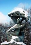 Estatua de Federico Chopin imagenes de archivo