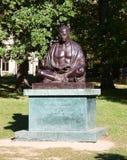 Estatua de Gandhi en Ginebra foto de archivo