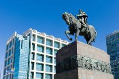 Estatua de general Artigas en Montevideo Imagen de archivo