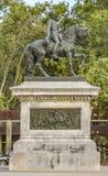 Estatua de general Joan Prim en Barcelona Imágenes de archivo libres de regalías