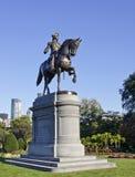 Estatua de George Washington en el jardín público de Boston Imagenes de archivo