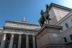 Estatua de Giuseppe Garibaldi Imagen de archivo libre de regalías