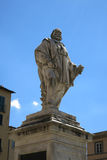 Estatua de Guiseppe Garibaldi en Lucca, Italia imagenes de archivo
