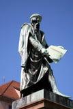 Estatua de Gutenberg Imagen de archivo libre de regalías