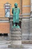 Estatua de Henrik Ibsen en Oslo, Noruega Fotos de archivo libres de regalías