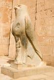 Estatua de Horus en Edfu Fotos de archivo libres de regalías