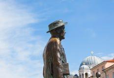 Estatua de James Joyce Imagenes de archivo