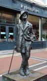 Estatua de James Joyce en el Dunlin, Irlanda imagen de archivo