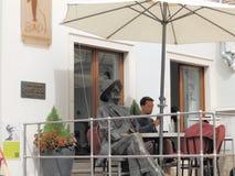 Estatua de James Joyce en las pulas, Istria, Croacia imagen de archivo libre de regalías