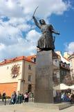 Estatua de Jan Kilinski en Varsovia, Polonia imágenes de archivo libres de regalías